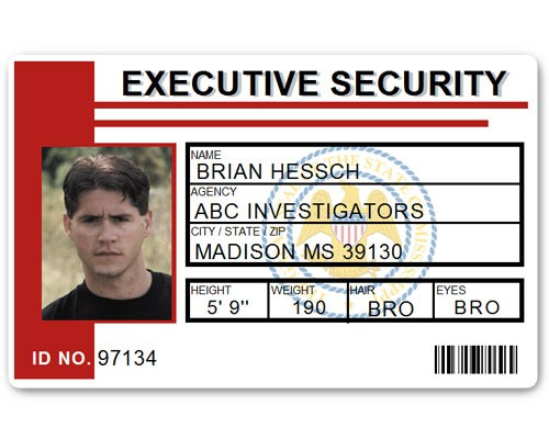 Executive Security PVC ID Card PFP023 in Red