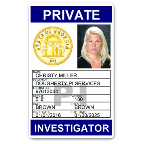 Private Investigator PVC ID Card PFP025 in Blue