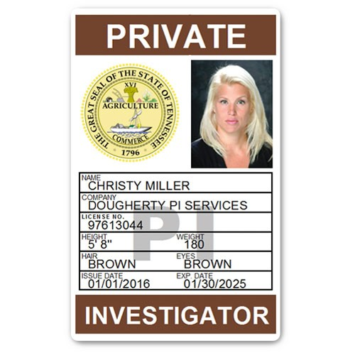 Private Investigator PVC ID Card PFP025 in Brown