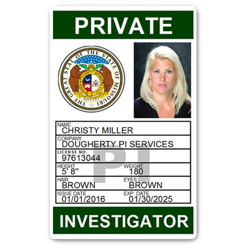 Private Investigator PVC ID Card PFP025 in Green