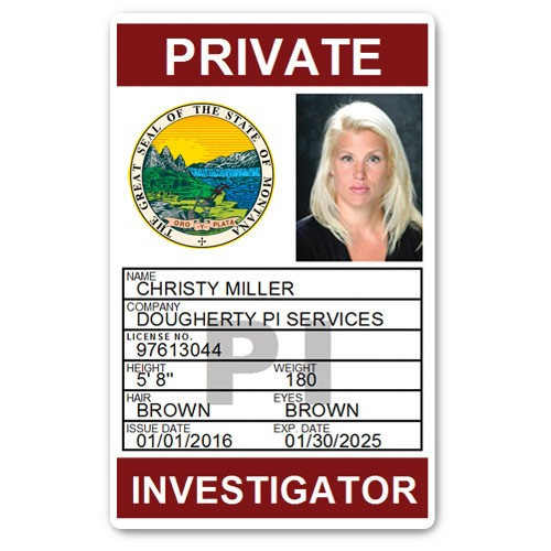 Private Investigator PVC ID Card PFP025 in Maroon