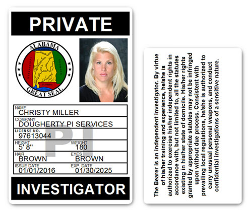 Private Investigator PVC ID Card PFP025
