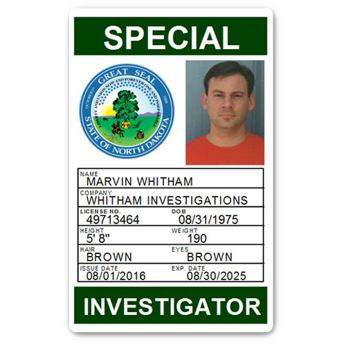 Private Investigator PVC ID Card PFP028 in Green