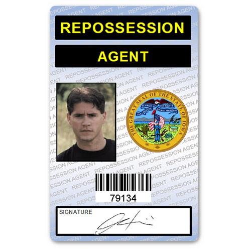 Repossession Agent PVC ID Card (blue)