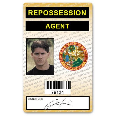 Repossession Agent PVC ID Card (orange)