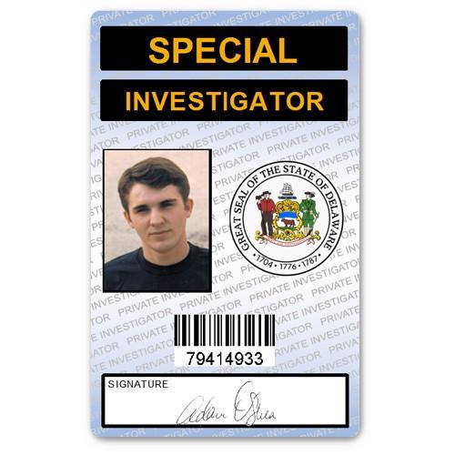 Special Investigator PVC ID Card in Blue