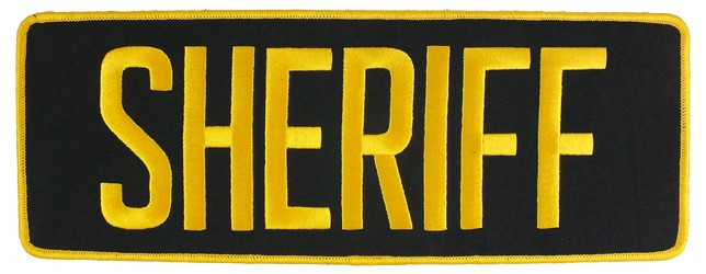 Large Velcro Sheriff Patch (Gold on Black)