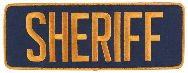 Large Velcro Sheriff Patch (Gold on Navy)