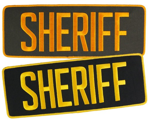 Large Velcro Sheriff Patch