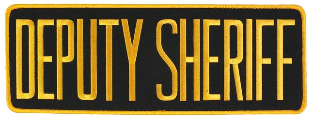 Large Velcro Deputy Sheriff Patch (Gold on Black)