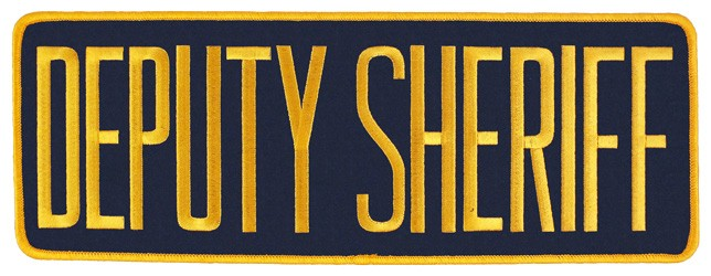 Large Velcro Deputy Sheriff Patch (Gold on Navy)