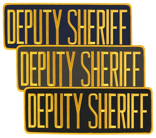 Large Velcro Deputy Sheriff Patch