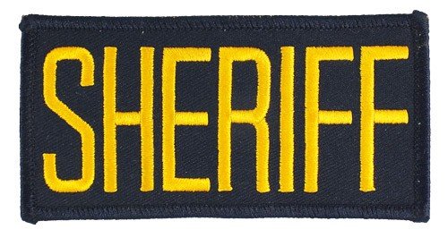 Small Sheriff Hat or Jacket Patch (Gold on Navy)