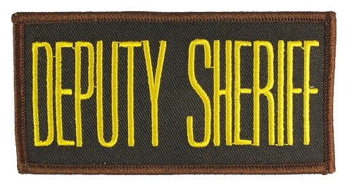 Small Deputy Sheriff Hat or Jacket Patch (Gold on Brown)