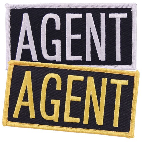 Agent Embroidered Hat or Jacket Patch