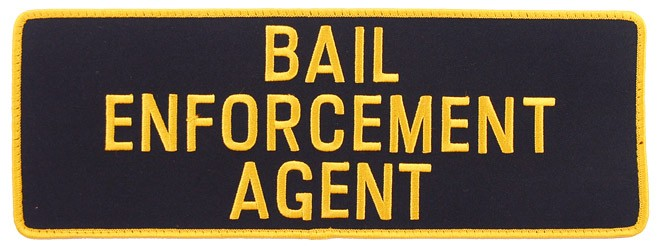 Large Velcro Bail Enforcement Agent Patch in Gold