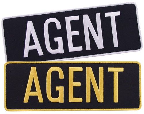 Large Velcro Agent Embroidered Patch