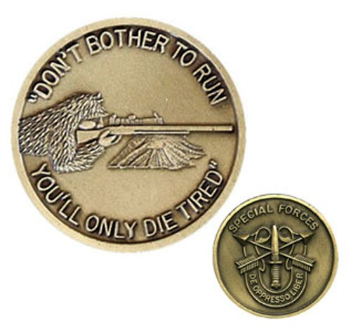 Special Forces Sniper Challenge Coin