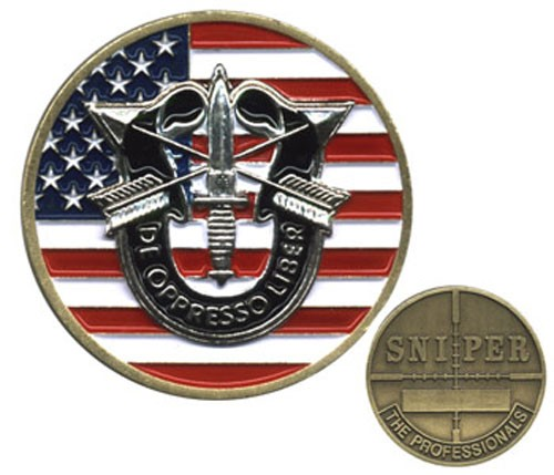 Special Forces Sniper Challenge Coin No. 2
