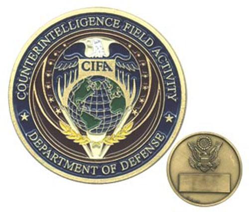 Dept. of Defense CIFA Challenge Coin