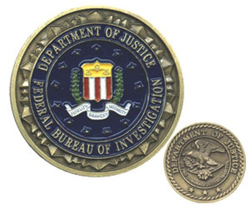 FBI Challenge Coin (enameled)