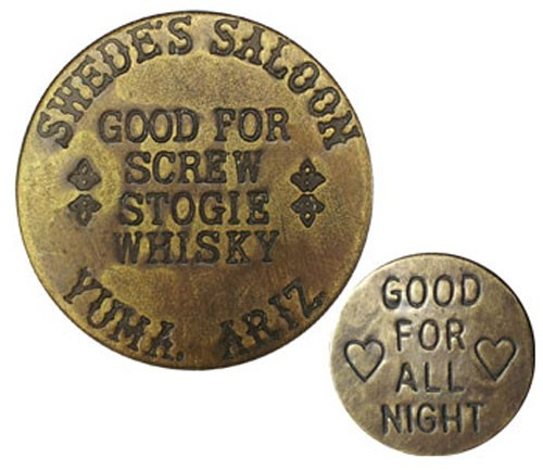 Swede's Saloon Brothel Coin
