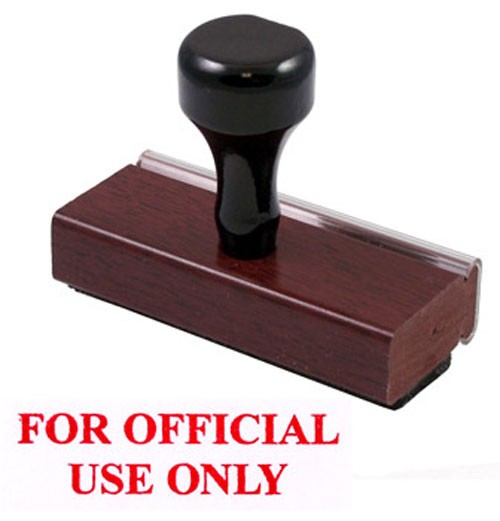 Official Use Only Rubber Stamp