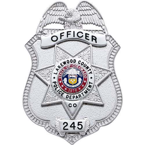 "3"" Eagle Top Smith & Warren Custom Badge S23_S249B"
