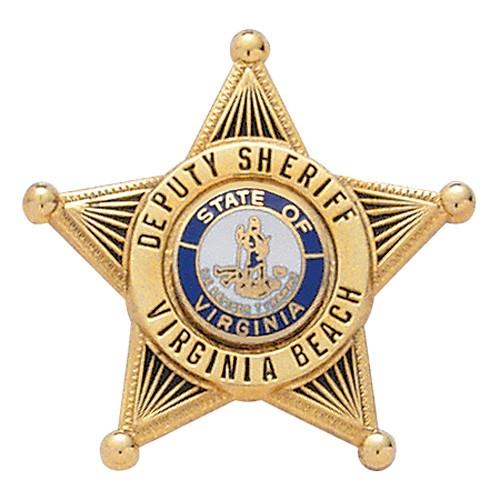 1.33 inch 5 Point Star Smith & Warren Badge S248
