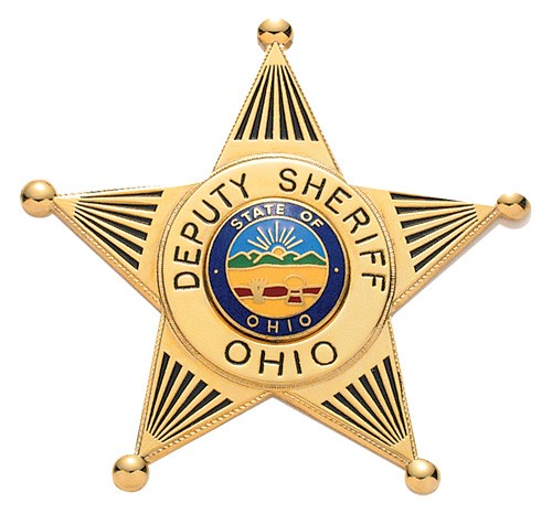 2.58 inch 5 Point Star Smith & Warren Sheriff Badge S258