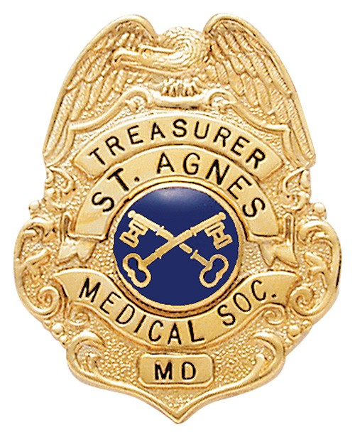 1.6 inch Eagle Top Smith & Warren Badge S277