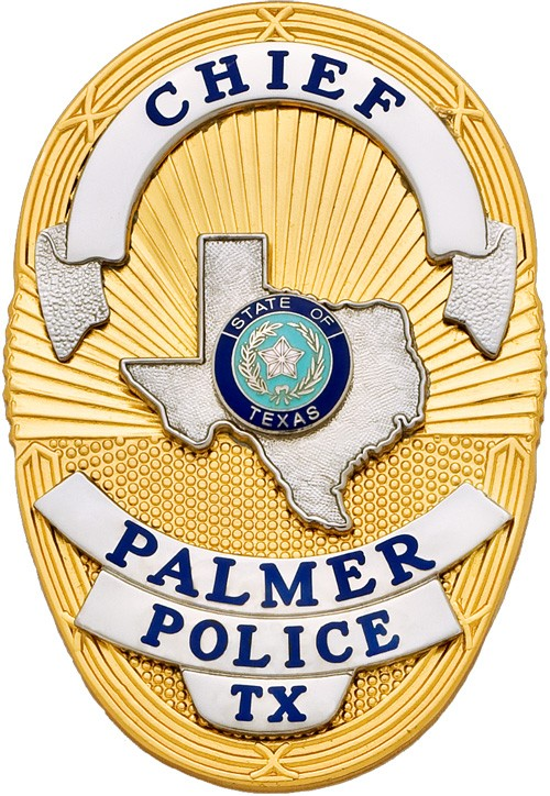 3 1/2 in. Oval Shield Smith & Warren Police Badge S36TX