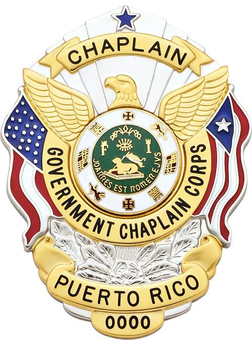 3 inch Eagle Top Smith & Warren Puerto Rico Badge S503PR