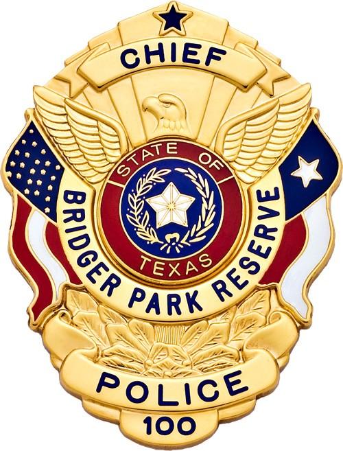 3 inch Eagle Top Smith & Warren Texas Police Badge S503TX
