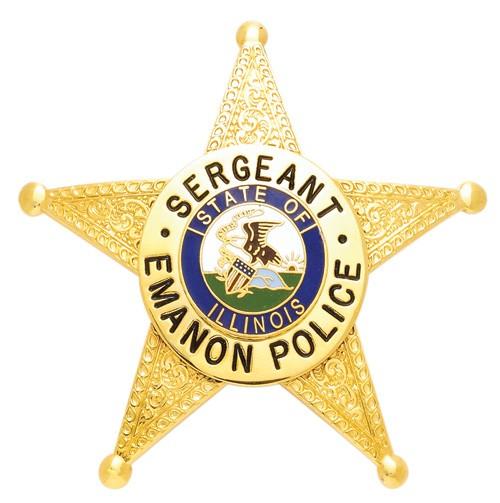 2.85 inch 5 Point Star Smith & Warren Badge S523