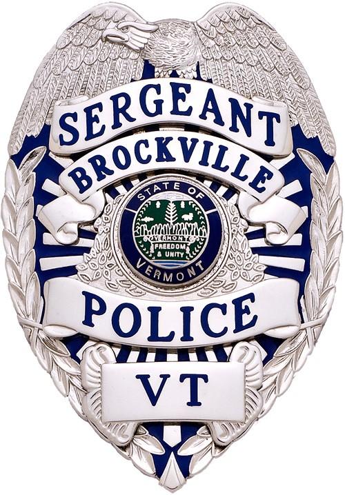 3.375 inch Eagle Top Smith & Warren Police Badge S536E