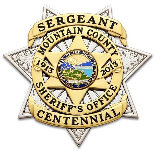 2 7/8 in. 7-Point Star Smith & Warren Badge S638B