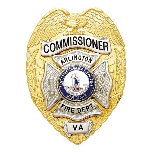 "3.375"" Eagle Top Smith & Warren Custom Badge S91K"