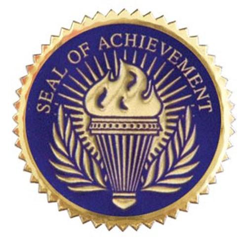 Seal of Achievement Blue 12 Pcs