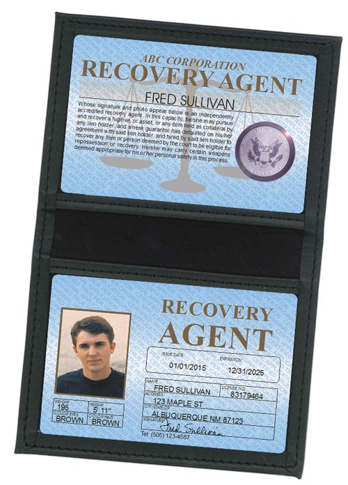 Recovery Agent Standard Folio in Case