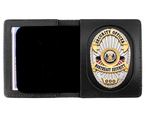 Duty Leather Book Style ID & Badge Case with Universal Cutout