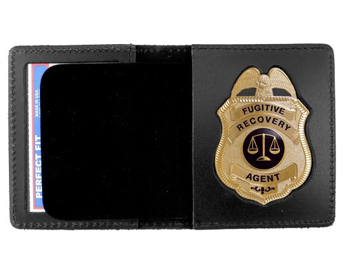 Duty Leather Book Style ID & Badge Case with Metro Shield Cutout