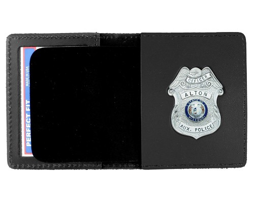 Duty Leather Book Style ID & Badge Case with Custom Cutout