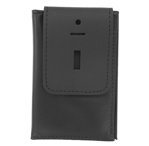 Thin Line Double ID Case with Badge Flap (closed view)