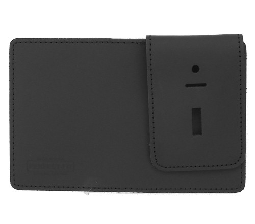 Duty Leather Double ID Case with Badge Flap (outside view)