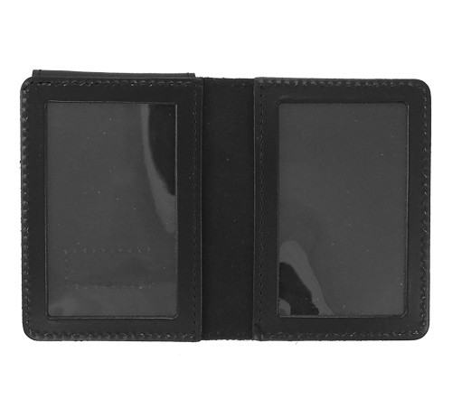 Duty Leather Double ID Case with Badge Flap