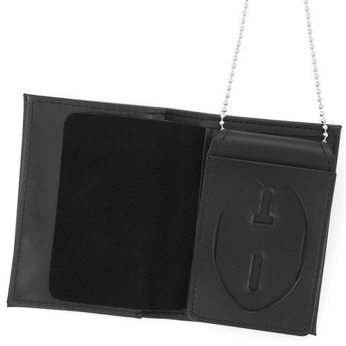 4 in 1 Dress Leather ID & Badge Case WAC049 (inside view)