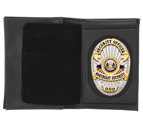 4 in 1 Dress Leather ID & Badge Case with Universal Cutout