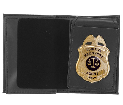 4 in 1 Dress Leather ID & Badge Case with Metro Shield Cutout