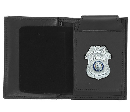 4 in 1 Dress Leather ID & Badge Case with Custom Cutout